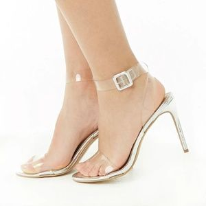 Shoes - Transparent Ankle-Wrap Heels Brand New